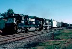 Norfolk Southern SD50's #6513 & #6510 lead a northbound train on the double track  